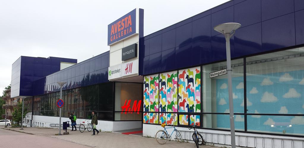 447e1399d04 ... Avesta Galleria nord; Avesta Galleria väst